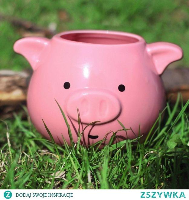 Uroczy kubek świnka :3 Świetny na wieczorną herbatkę!