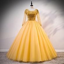 Luksusowe Złote Sukienki Na...