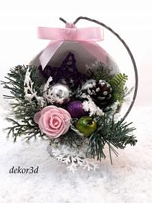 Nowość!Dekoracja świąteczna, stroik hand made.