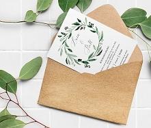 Zaproszenie ślubne | botanic