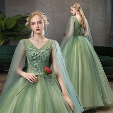 Eleganckie Limonkowy Sukien...