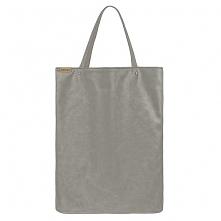 Mega shopper torba szara na zamek