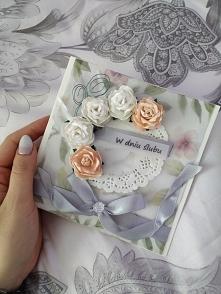 Własnoręcznie robiona kartka na ślub. Co o niej myślicie?