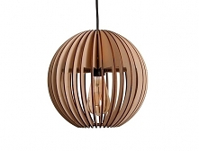 Lampa Marble drewniana kula...