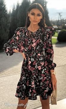 Kwiecista sukienka <3 je...