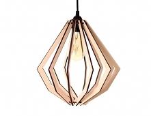 Lampa Vortex drewniana styl...