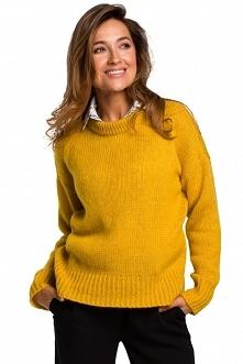 Sweter o luźnym splocie - m...
