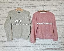 sweter przeróbka diy