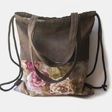 Plecak torba 2w1 brązowa z ...