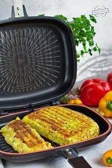 Omlet ziemniaczany z papryką