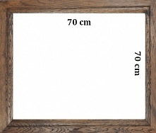 Nasze bestsellery. Rama dębowa woskowana  w rozmiarze 70cm x70cm i pasujący d...