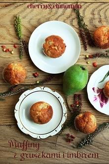Muffiny z gruszkami i imbirem