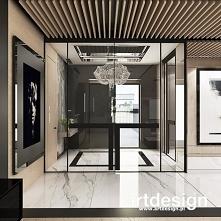Hol wejściowy to bardzo ważne miejsce w domu. Elegancki przedpokój jest wizytówką mieszkania, a oddzielając go szklanymi drzwiami, otwieramy go na widok na salon. | POWER OF DES...