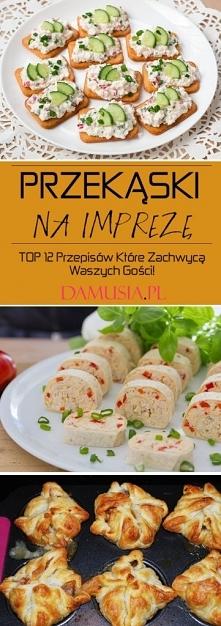 Pyszne Przekąski na Imprezę...