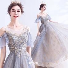 Eleganckie Szary Sukienki N...