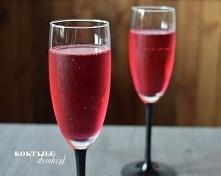 Champagne in Red - szampan Prosecco z grenadyną   Koktajle-Drinki.pl  dokładny bardzo prosty przepis po kliknięciu w link