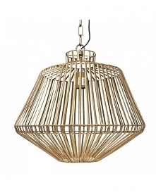 Lampa Wisząca Metalowa Brass