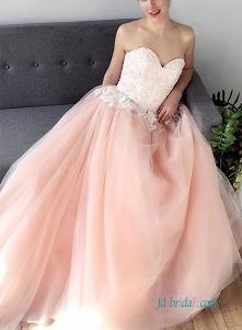 różowa i biała # suknia bal...