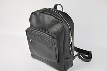 Skórzany plecak unisex czarny