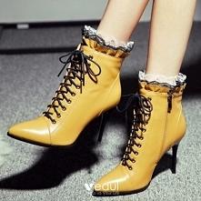 Moda Żółta Przypadkowy Buty...