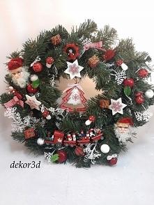 Nowość!wianek świąteczny z ...