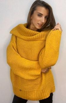SUE Ciepły sweter z wywijan...