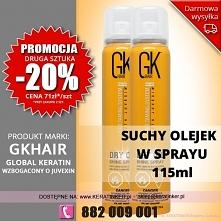 Promocja Global Keratin GKhair suchy olejek 115ml dry oil shine spray sklep w...