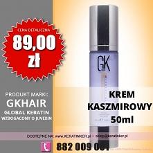 Global Keratin GKhair cena 89zł krem kaszmirowy 50ml cashmere cram sklep wars...