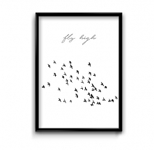 Fly high - plakat