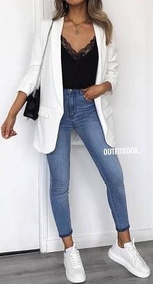 #modadamska #moda #styl #stylizacja #outfit #ootd #kobieta #marynarka #top #kobieta