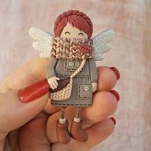 Cieplutki aniołek dla zmarzlaków ;)