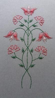 Haft matematyczny - Kwiaty