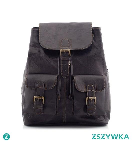 Plecak ze skóry naturalnej czarny BELVEDER BT10
