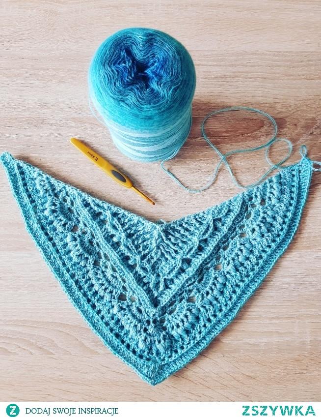 #crochet #allyana #shawl #chusta