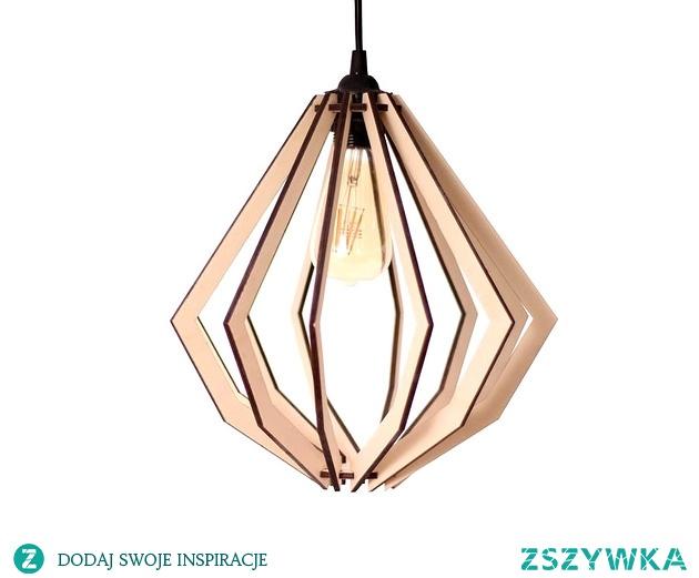 Lampa Vortex drewniana styl azjatycki