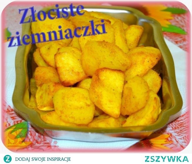 Polecam Wam pyszne chrupiące ziemniaczki prosto z piekarnika;) Są smaczne… tanie… szybko zaspokajają głód… i ładnie wyglądają na talerzu;)