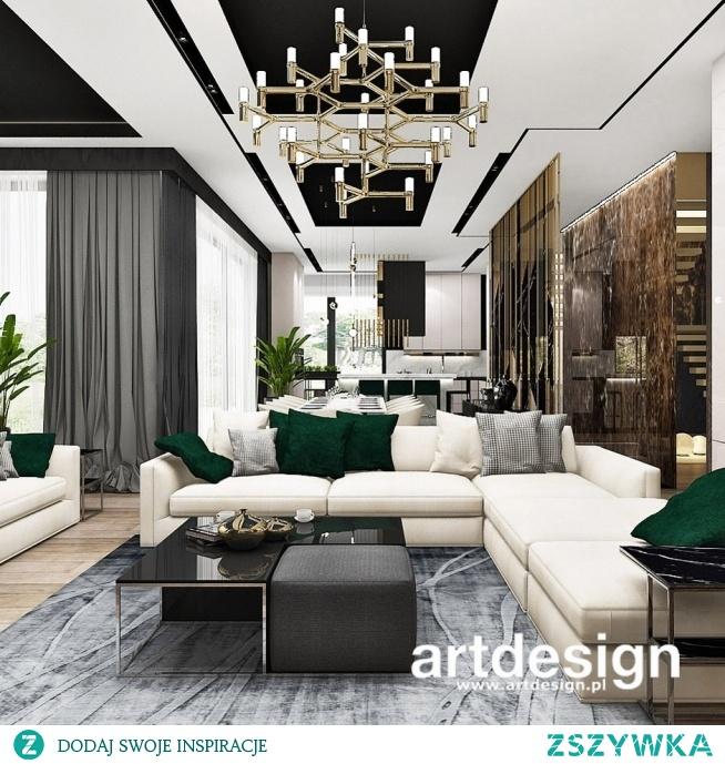 Luksusowo i niepowtarzalnie - wnętrze nowoczesnej rezydencji |  PERFECT BALANCE | Projekt salonu