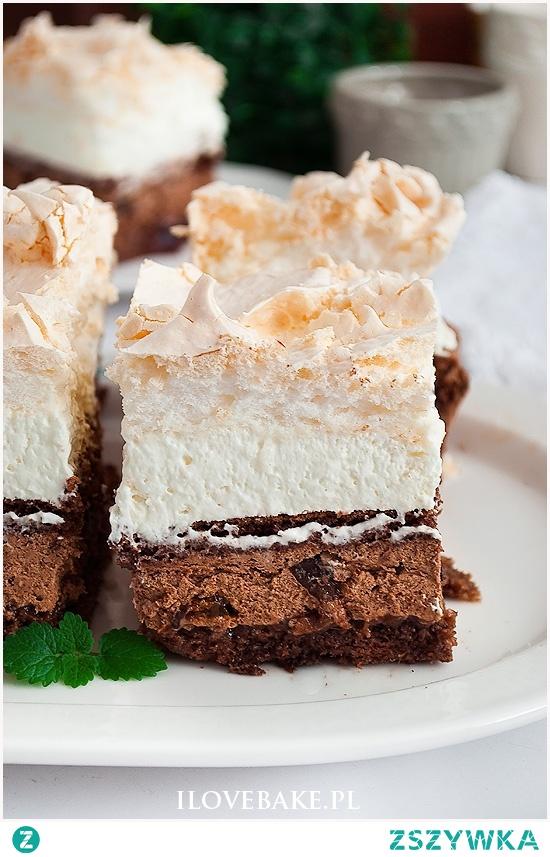 Ciasto bezowa śliwka w czekoladzie
