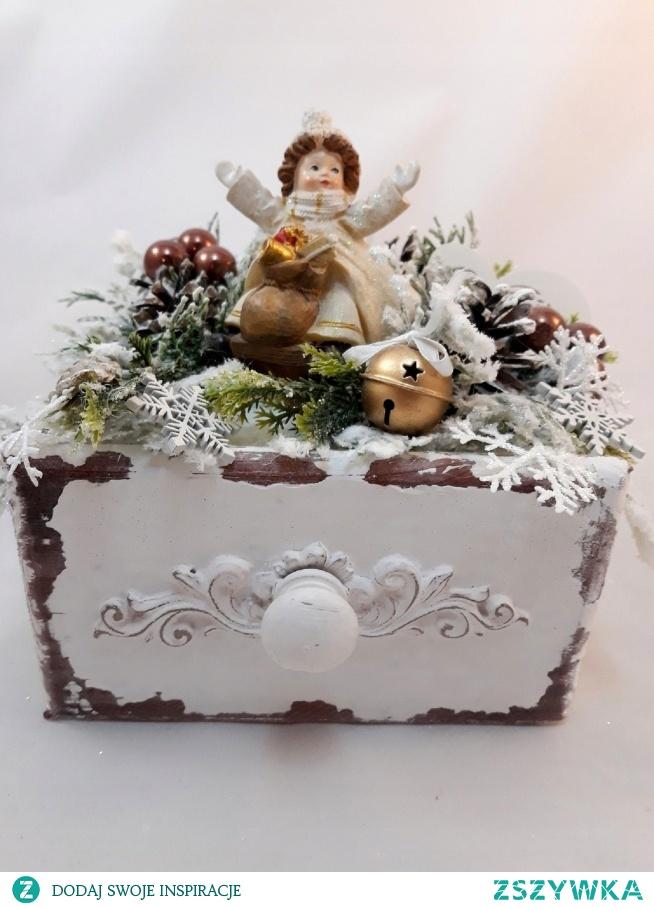 Nowość!Świąteczna szufladka-oryginalna dekoracja hand made. Zapraszam do sklepu.
