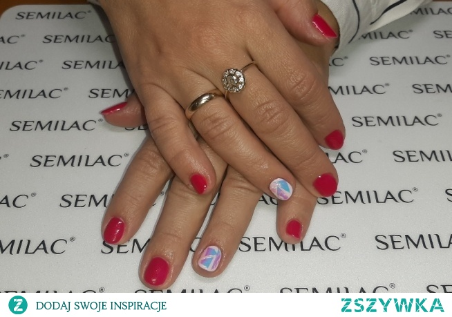 Neonail Wild Heart, Semilac 157, glass effect