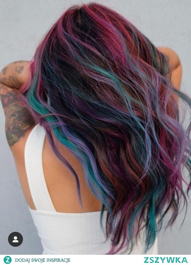kolorowe włosy <3