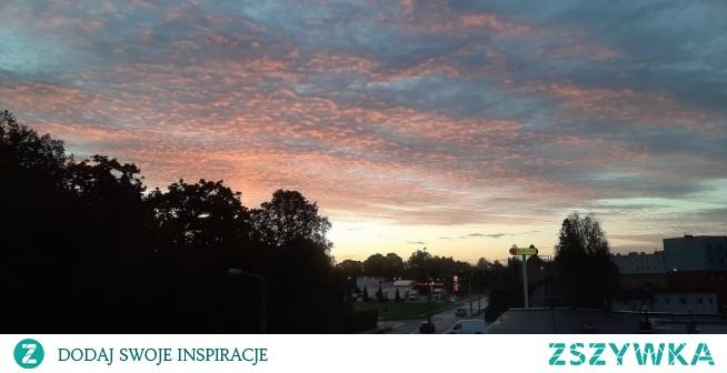 Wschód słońca, widok z mojego okna