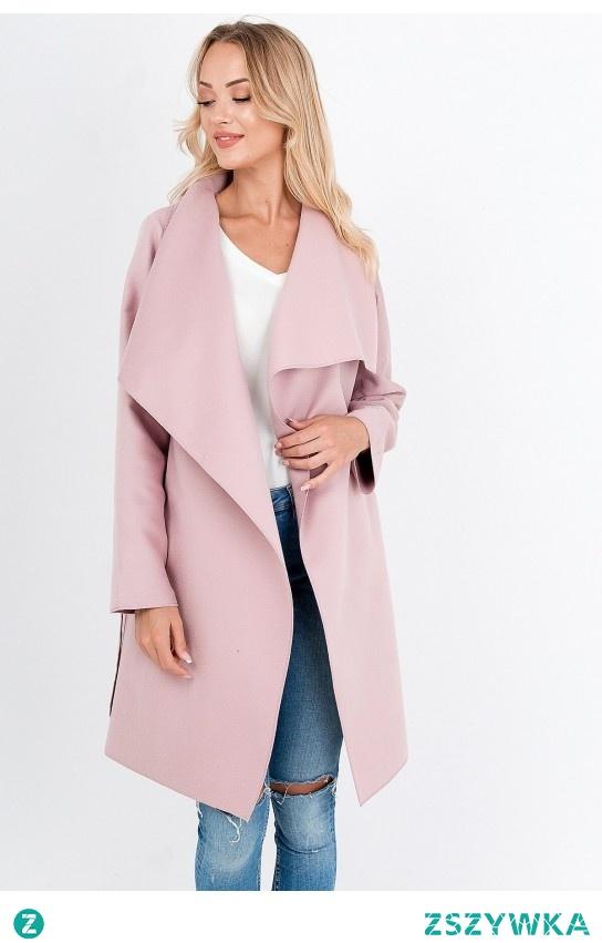 Płaszcz z wiązaniem