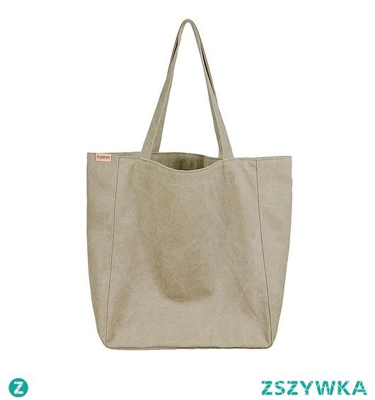 Lazy bag torba khaki / zieleń na zamek / vegan