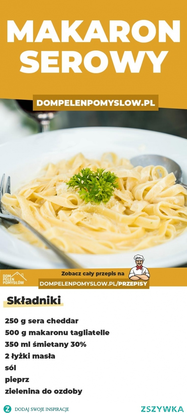 Przepis na szybki makaron serowy
