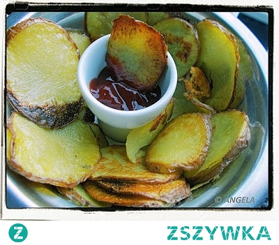 Domowe chipsy ziemniaczane z piekarnika - Homemade Potato Chips (Crisps) - Chips di patate al forno