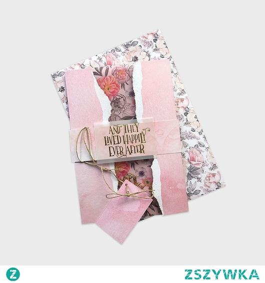 "Kartka ślubna ""Soft pink"""