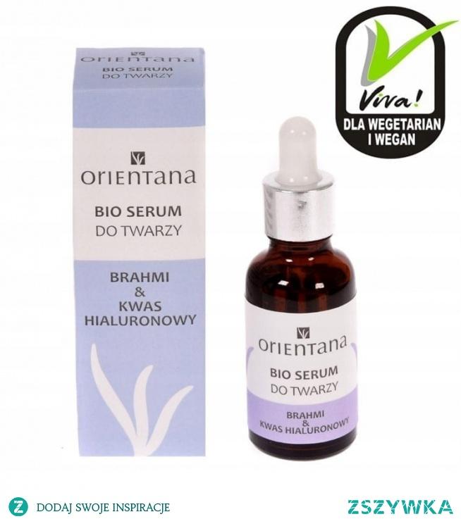 Naturalne BIO SERUM do twarzy BRAHMI & KWAS HIALURONOWY 30 ml