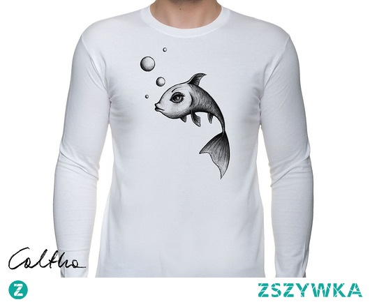 Ryba - męska koszulka z długim rękawem