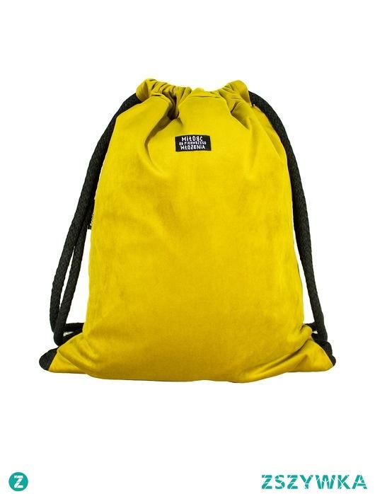 Plecak żółty welur